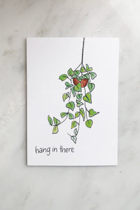 HANG IN THERE POTHOS CARD