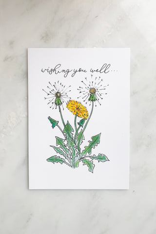 WISHING YOU WELL DANDELION CARD