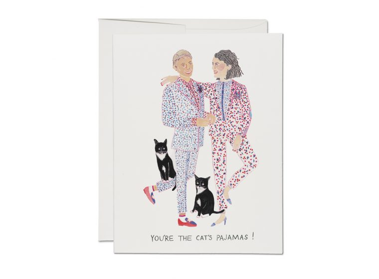 CAT'S PAJAMAS LOVE GREETING CARD