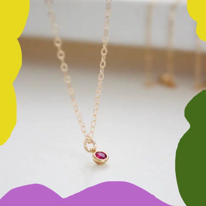 MINI BBY BIRTHSTONE NECKLACE