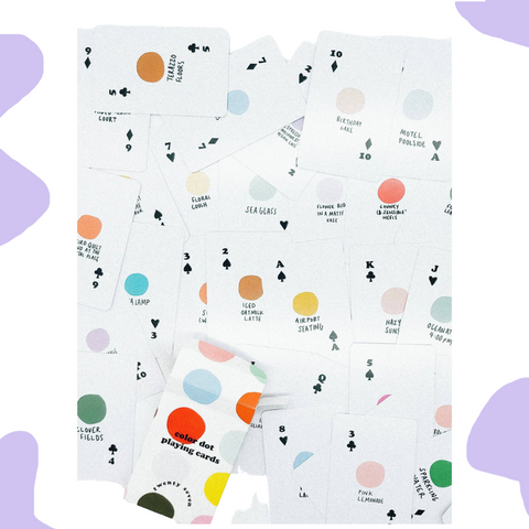 COLOR DOT PLAYING CARDS