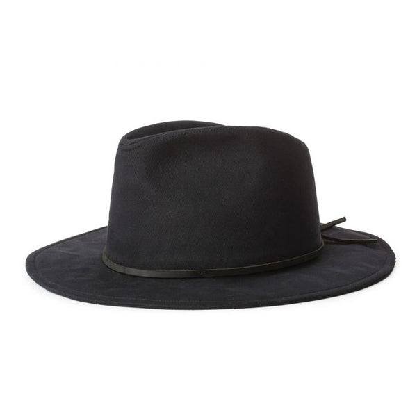 BLACK WESLEY COTTON FEDORA
