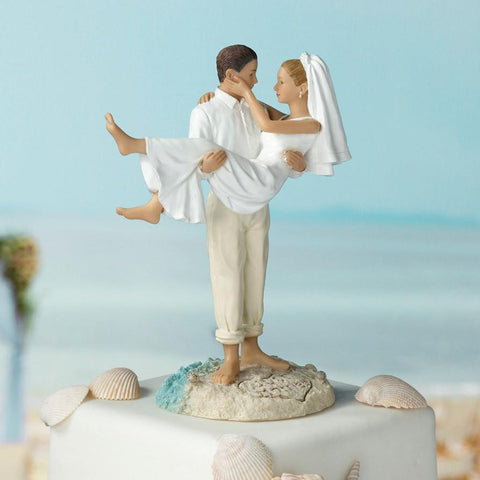 "Beach ""Just Married"" Wedding Cake Top"