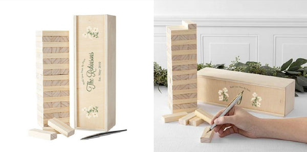 Floral Building Block Wedding Guestbook