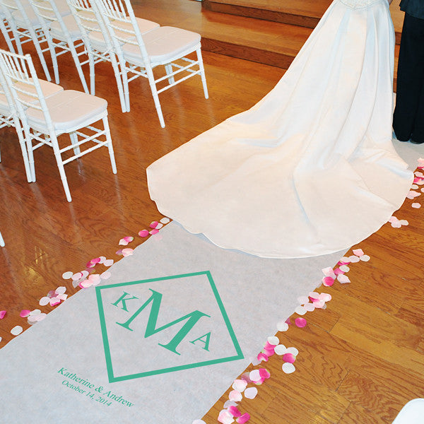 Diamond Monogram Aisle Runner