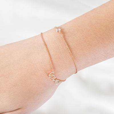 Rose Gold Love Bracelet Wedding Party