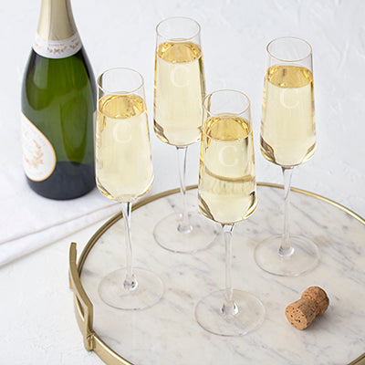 Champagne Estate Glasses Set of 4