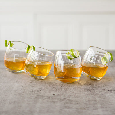 Tipsy Whiskey Glasses - Set of 4