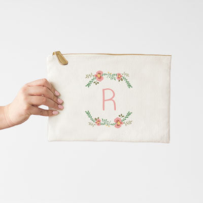 Floral Canvas Clutch