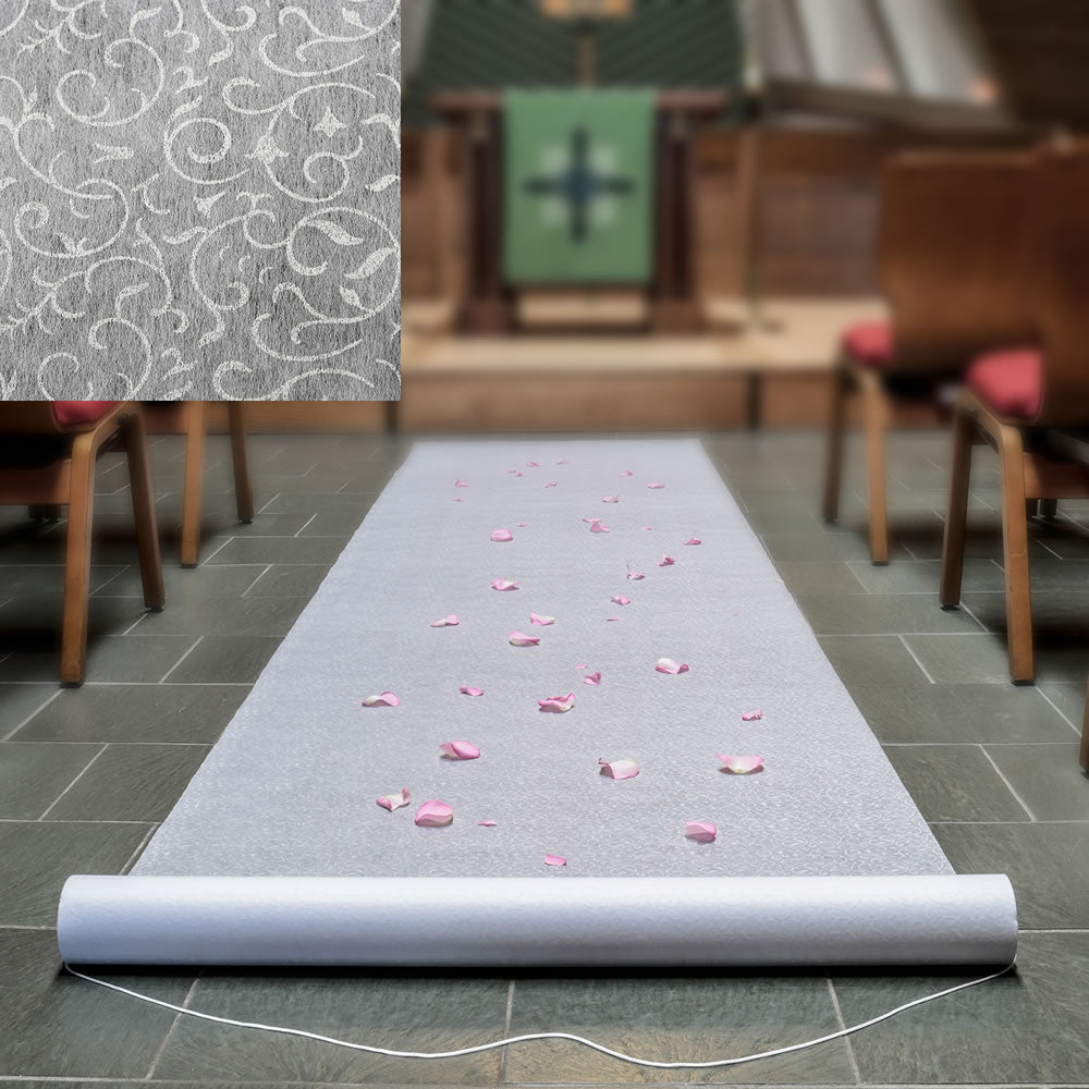 Aisle Runner with a Floral Lace Design