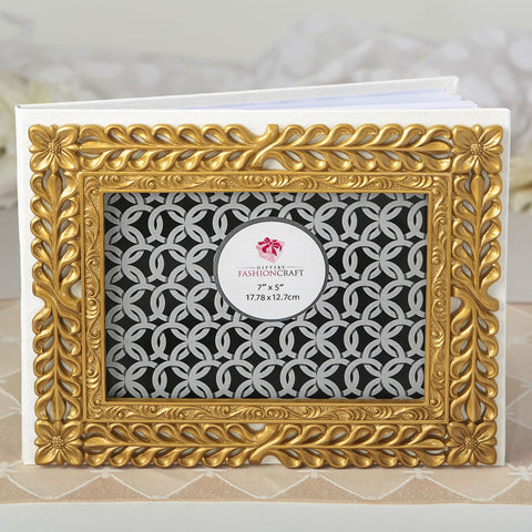 Gold Lattice Botanical Guest Book