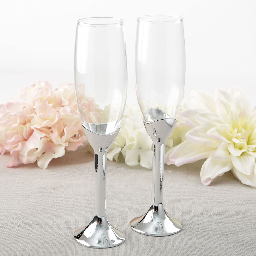 Classic Silver Stem Toasting Flutes