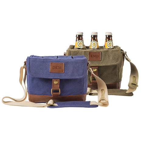 Insulated Waxed Canvas 6-Pack Bottle Carrier