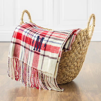 Red Plaid Throw