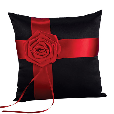 Midnight Rose Ring Pillow