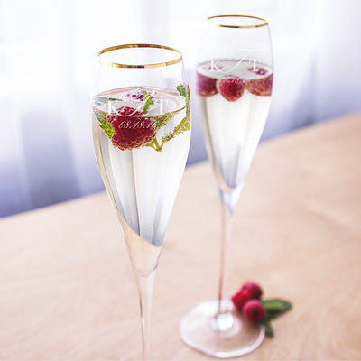 Rimmed Wedding Toasting Flutes