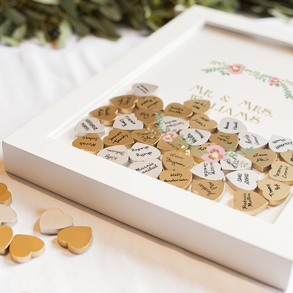 Floral Heart Drop Guestbook Alternative
