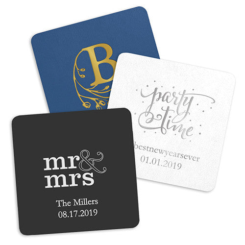 Personalized Paper Coasters