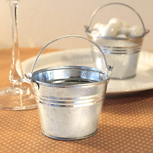 Miniature Galvanized Bucket Favor Holder