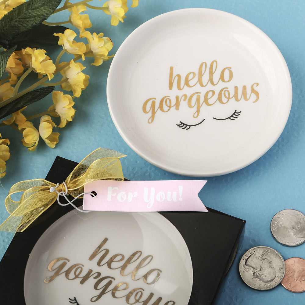 Hello Gorgeous Jewelry/Change Dish Favor