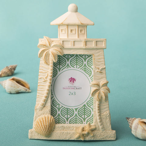 Beach Themed Light House Place Card Frame