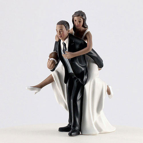 Dark Skin Tone Wedding Cake Topper