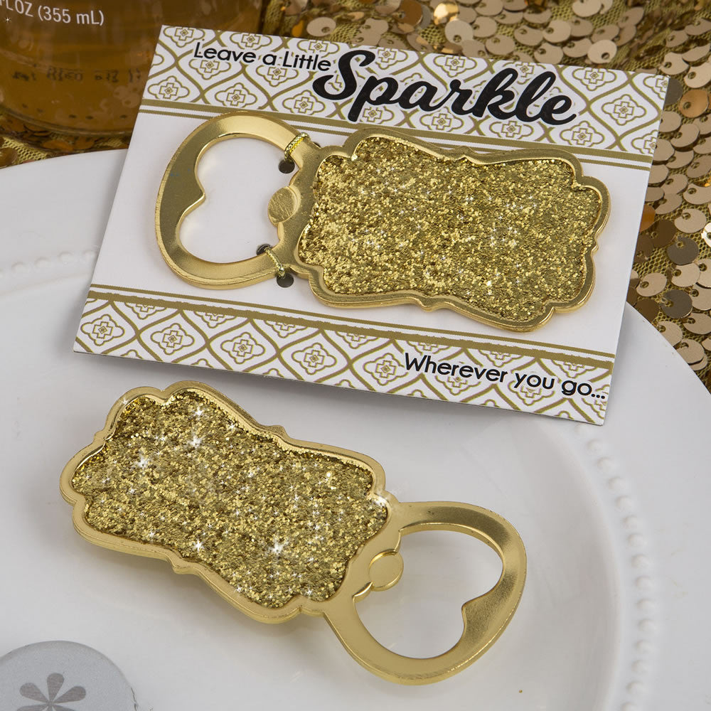 Golden Elegance Bottle Opener Favor
