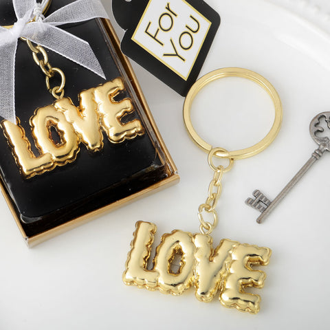 love key chain wedding favor