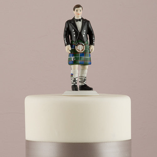 Scottish Groom in Kilt Cake Top
