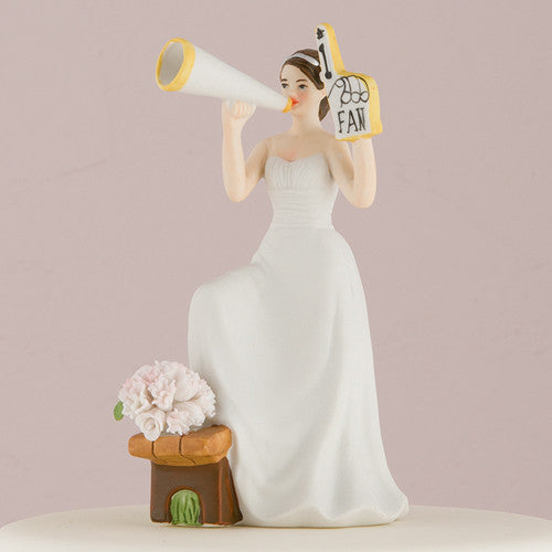 Soccer Theme Wedding Cake Topper