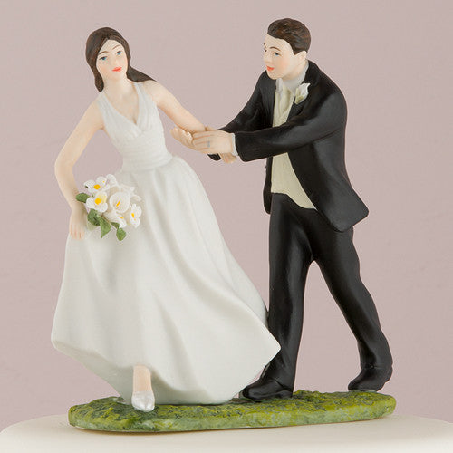 Race to the Altar Wedding Cake Top