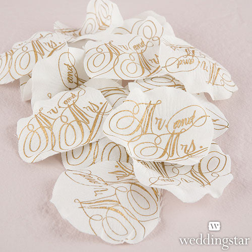 Mr. and Mrs. Love Letter Printed Flower Petals Confetti