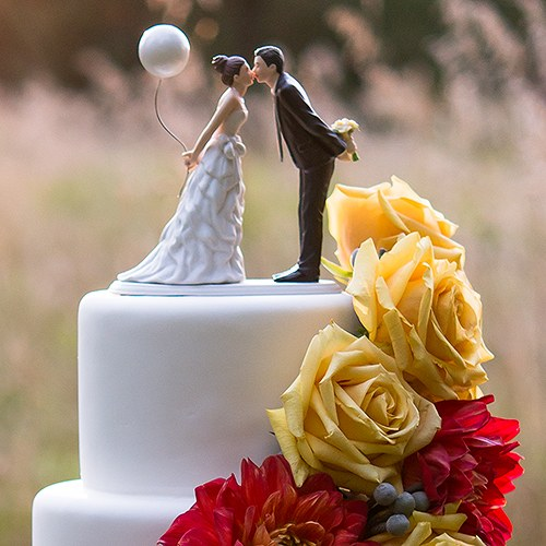 balloon wedding cake top