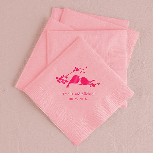 Love Bird Printed Napkins