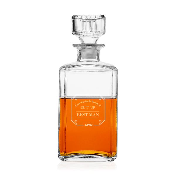 Groom's Wedding Party 34 oz. Whiskey Glass Decanter