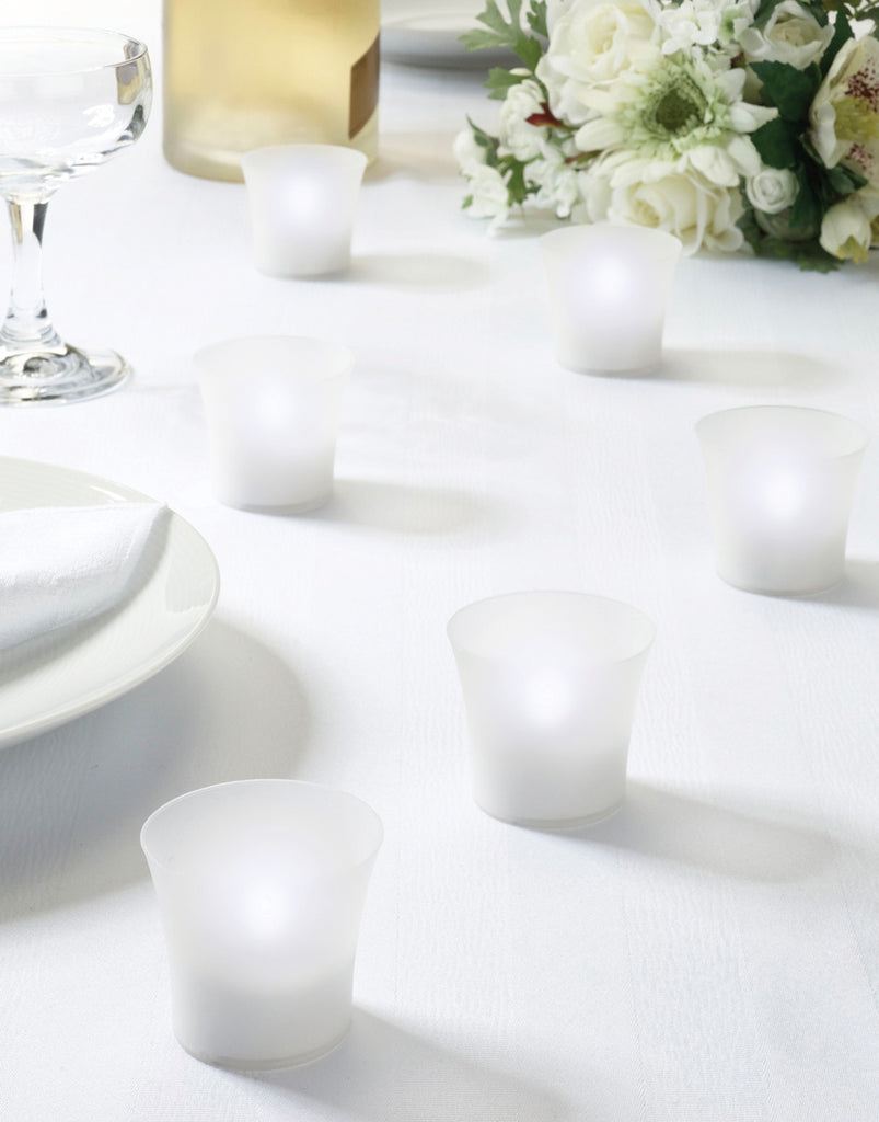 White LED Tealight Favors - Set of 6