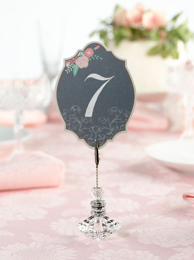 Black & Pink Table Numbers #1-24