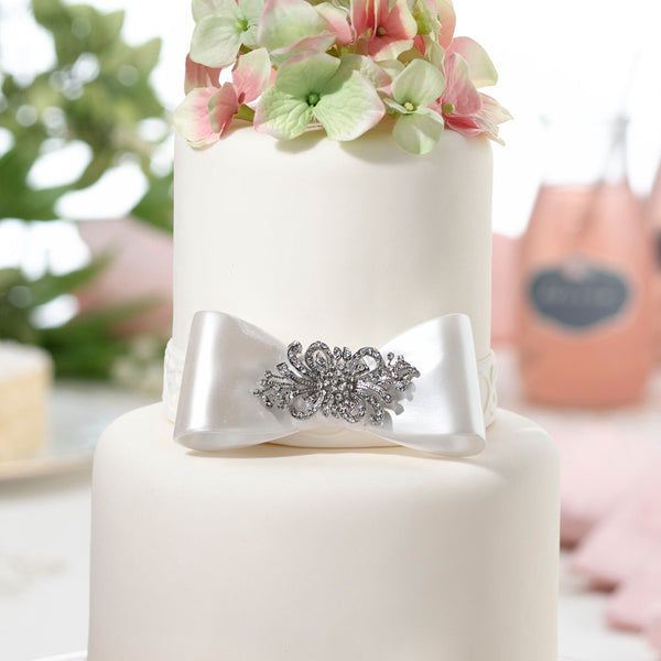 Bow with Rhinestone Decoration Cake Pick