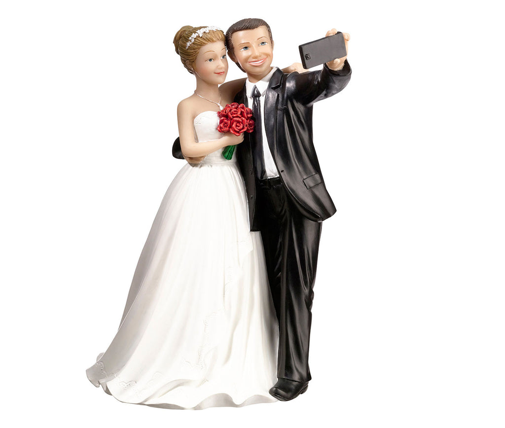Selfie Couple Caketop Figurine
