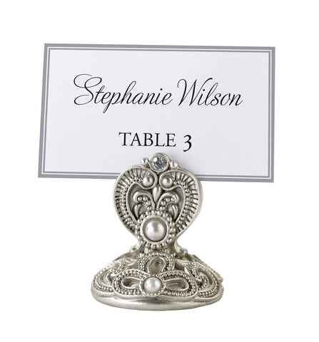 Set of 4 Jeweled Wedding Place Card Holders