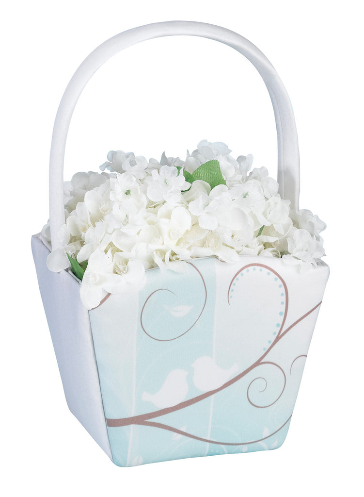 Love Birds Flower Girl Basket