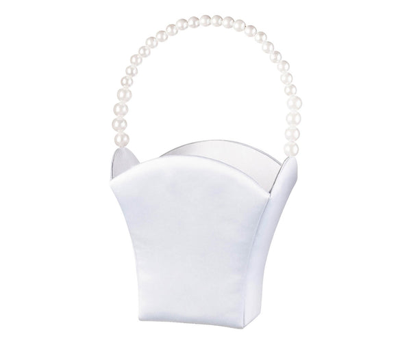 Pearl Handle Flower Girl Basket
