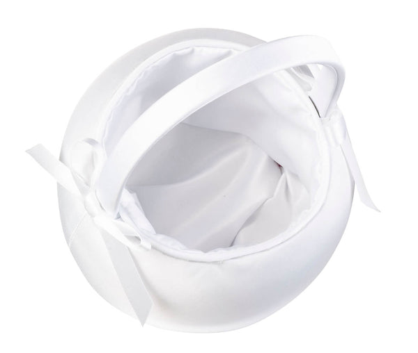 Satin Flower Girl Basket
