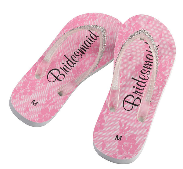 Bride Wedding Flip Flops