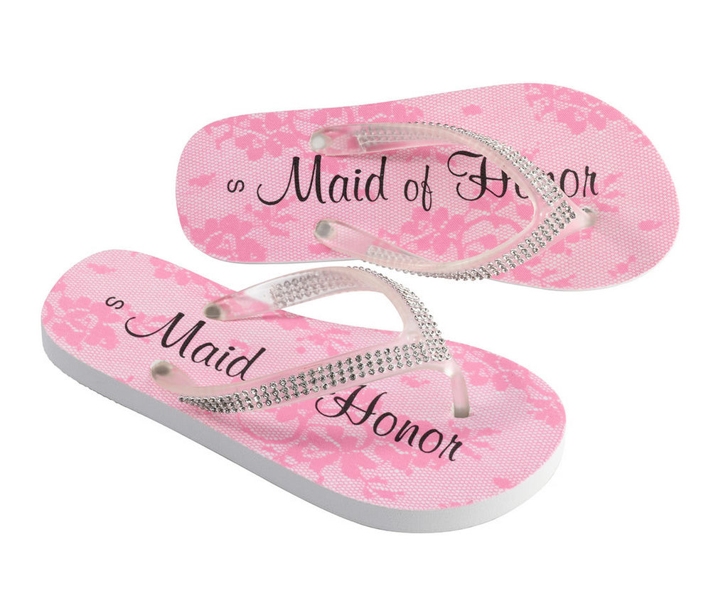 Maid of Honor Wedding Flip Flops
