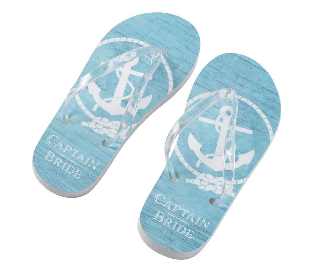 Captain Bride Flip Flops