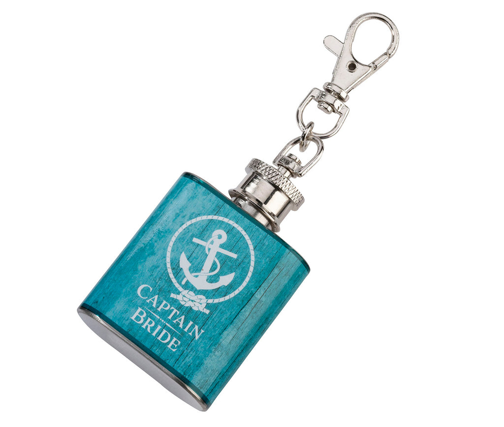 Captain Bride Mini Aqua Flask Favor