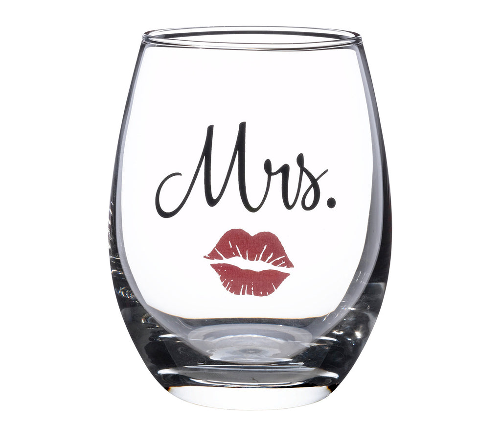 Mrs. Wine Glass with Lips