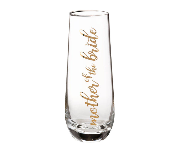 Parents Stemless Champagne Glass and Wedding Toasting Glass