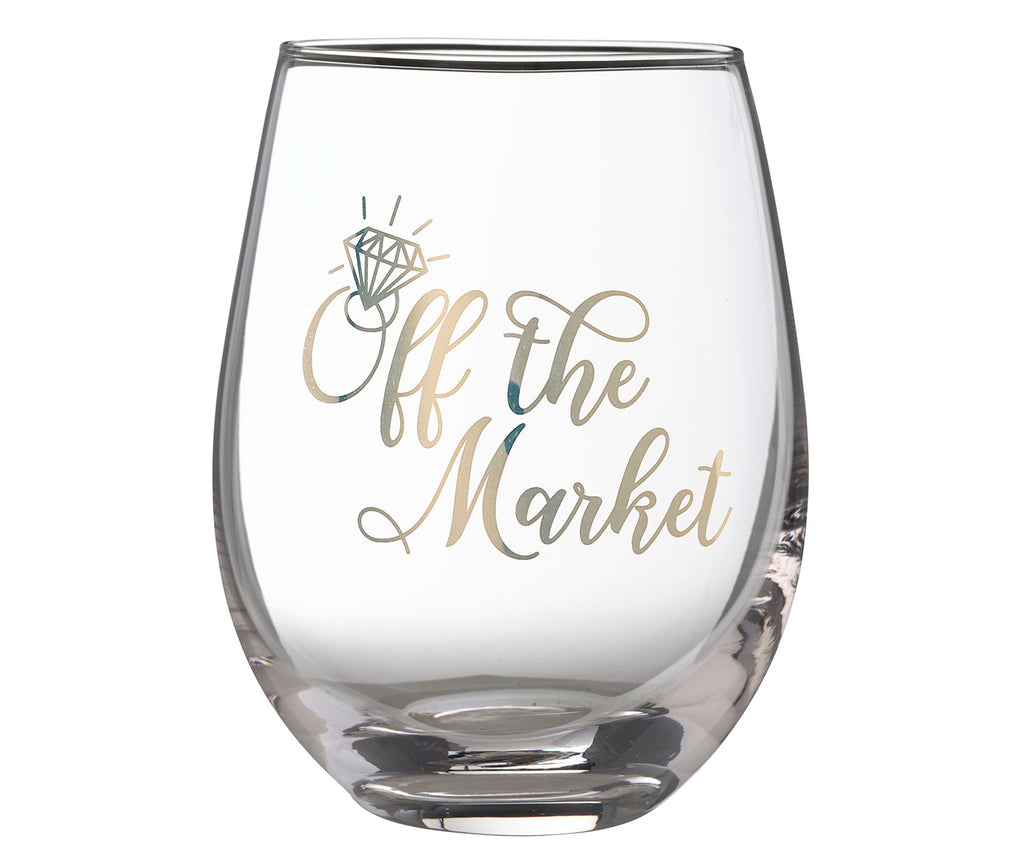 Off The Market - Stemless Wine Glass